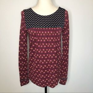 Boden Floral Peasant Jersey Blouse 6